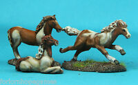 Ponies (3) 20mm metal miniature Warhammer Miniature Unpainted Historical wargame