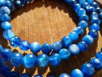 5,5mm 3x Perlen natürliche Kyanit Cyanit Disthen Edelstein Basteln Selten