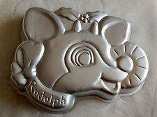 Wilton Rudolph  the red nosed reindeer Cake Pan 1981 Vintage