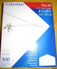 Top Flight No. 10 Envelopes, Strip & Seal, Security Tint, 24lb White Paper, 500