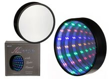 Infinity Mirror Spiegel LED Lichttunnel 18 bunte LED´s ca. 20cm Tunnelspiegel