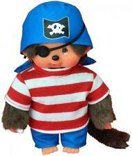 MONCHHICHI PIRATE Boy 20cm Monkey 23689 SEKIGUCHI Soft Cuddly Animal Toy Doll