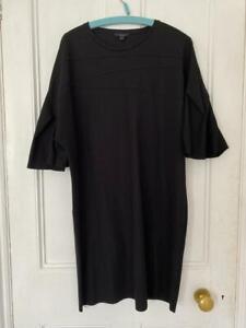 COS Black Wide Oversized Sleeve Cocoon Dress Size Medium *LOVELY*