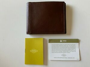 NEW Fossil SML1503200 Tyler Bifold RFID Men's Leather Wallet BROWN $48
