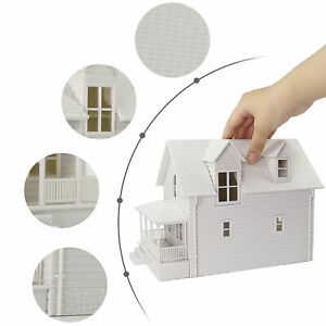 1pc O Scale 1:50 Model Blank House White Unassembled Architectural Building