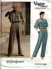 Vogue 1598 Jumpsuit Yves Saint Laurent Paris Original Sewing Pattern Sz 8 Uncut