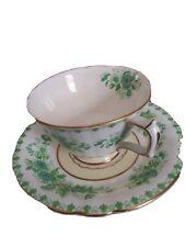 New listing Vintage Royal Windsor Green Bone China Tea Cup & Saucer Set