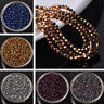 3/4/6/8mm Charms Faceted Crystal Glass Bicone Loose Spacer Beads Jewelry Making