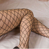 Women's Crystal Fishnet Elastic Fishnet Net Pattern Pantyhose Tights Stockings