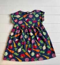 Frugi Age 2-3 Years Dress Vegetable Print Short Sleeve Jersey Organic Cotton
