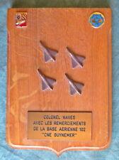 Tape de Bouche ou Blason BASE AERIENNE 102 CNE GUYNEMER dim 13,5 X 19 cm