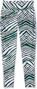 Zubaz New York Jets NFL Women's Zebra Print Legging, Green