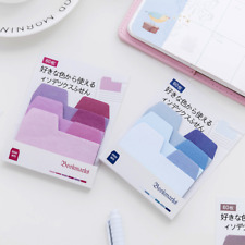 Gradient Rainbow Colored Sticky Notes Index Tabs Page Markers Bookmarks Random