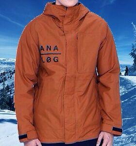 Analog Monetary Mens XXL/2XL/2X Snowboard Ski Snow Jacket Nwt $180