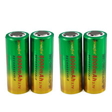 26650 Battery Flat Top Li-ion 3.7V Rechargeable Batteries Bat for Flashlight
