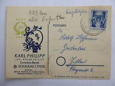 Postkarte Gartenbau-Betrieb Karl Philipp Schalkau Thüringen 1955