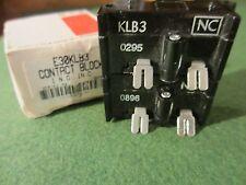 Cutler-Hammer E30KLB3, Contact Block w Spade Terminals, 1NC, 1NO