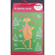 john lewis 8 charity christmas reindeer cards with envelopes rrp £4.50