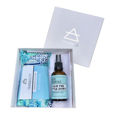 CALM THE F*%K DOWN CALMING AROMATHERAPY MIST & TRANQUILITY EYE PILLOW GIFT BOX