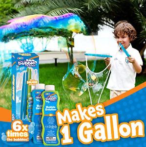 JOYIN Big Bubble Wands, Includes 2 Wands, 2 Bubble Concentrate24 Oz Total, Toys