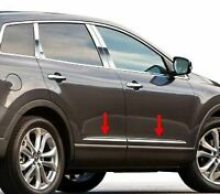 2007-2015 Mazda CX-9 CX9 4Pc Stainless Steel Flat Body Side Molding Trim 1""