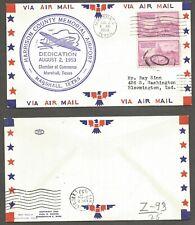 1953 Cover - Marshall Texas Harrison County Memorial  Airport Dedication stk#109