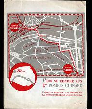 """SAINT-CLOUD (92) USINE de POMPES """"GUINARD"""" Plan d'accés & Mémoires en 1936"""