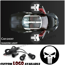 The Punisher Skull Logo Auto Car Door Welcome Laser Projector Ghost Shadow Light