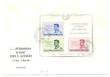 CYPRUS 1965 COVER -FDC MI# Bl. 3 --CV € 100 - KENNEDY ---@3