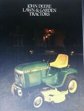 John Deere 1985 ALL COLOR Sales Brochure Garden Tractor Manual Lawn Riding 24pg