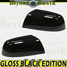 2007-2018 TOYOTA TUNDRA GLOSS BLACK Mirror Covers Overlays Non Towing Top Half