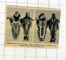 1920 modas en el extremo norte vestido usado por los esquimales piel de foca