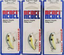 (3) Rebel Lures Teeny Wake-R Foxy Shad T91521