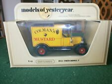 Matchbox Models of Yesteryear 1912 Model T Ford Van with Colmans Mustard decals