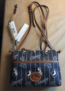 Dooney & Bourke Chicago White Sox Ginger Crossbody Handbag  (Black) MLB Licensed