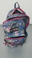 JanSport Trans JS00TM60 Supermax 17x12.5x8.25 Jean Backpack - Rose Pattern