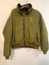 Remington Outdoor Clothing Mens Large Green Bomber Jacket Zip-up