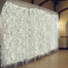 300 LED Curtain Fairy Lights Indoor/Outdoor Wedding Party Christmas Snowflake