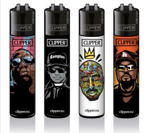 4 x Clipper Feuerzeuge Classic Large Neu - Hip-Hop Legends / 2 Pac / Ice Cube