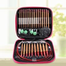 13X Interchangeable Metal Circular Knitting Bamboo Needle Set Accessories Craft