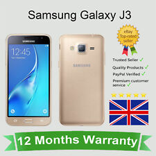 *Unlocked* Samsung Galaxy J3 (2016) J320 Android Mobile Phone - 8GB Gold*