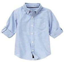 Gymboree Spy Guy Pinpoint Oxford Button-Down Collar Dress Casual Shirt XS (3-4)