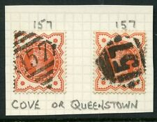 IRELAND COVE QUEENSTOWN on QV JUBILEE 1/2d VERMILION...157 DIAMOND...2 TYPES