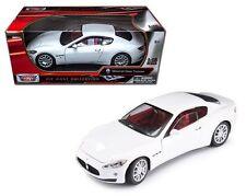 New MOTOR MAX 1:18 MASERATI GRAN TURISMO Diecast Car Model White