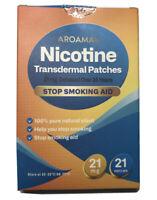 Aroamas Nicotine Transdermal Patches to Quit Smoking - 21mg, 21 patches