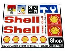 Lego® Custom Pre-Cut Sticker for Classic Town Gas Station 6378 - Service Station