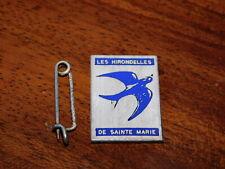 vintage MEDAILLE BROCHE alsace LES HIRONDELLES de SAINTE MARIE isler strasbourg