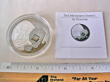Cook Islands 2008 Pultusk Meteorite $5 25g Silver Proof Palladium Insert w/COA
