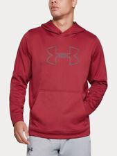 Under Armour Men's Performance Fleece Logo Hoodie Pullover Shirt Red XXL 2XL New