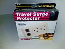 ARISTA TRAVEL SURGE PROTECTOR 4 GROUNDED AC OUTLETS & FAX MODEM  PROTECTOR H11
